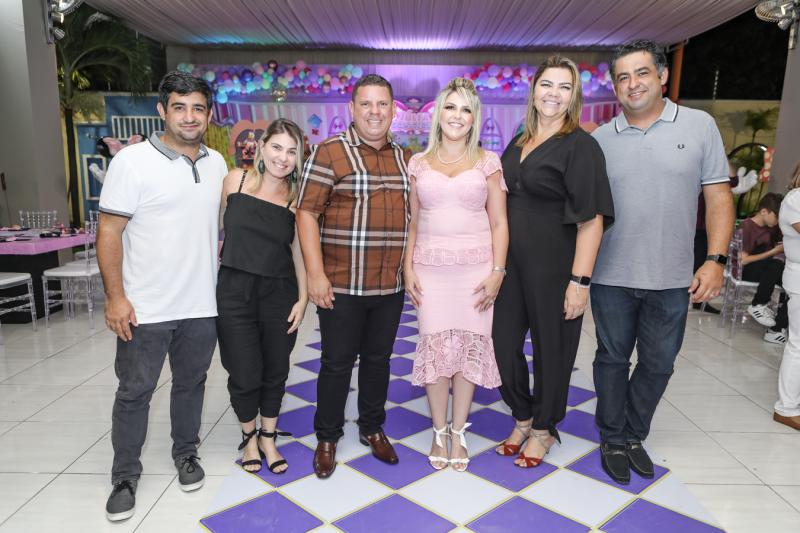 Emanuel Nobre e Tatiana Lebre, Gerardo e Marina Santos, Daniele e Cristiano Nobre