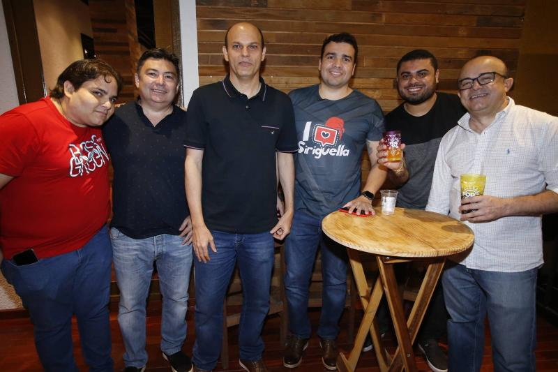 Daniel Baquit, Domingos Savio, Ailton Junior, Thiago Colares, Junior Filho e Antomario da Hora