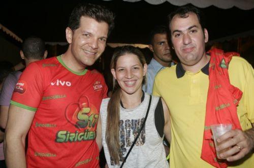 Gustavo Serpa, Christianne e Fernando Aciole