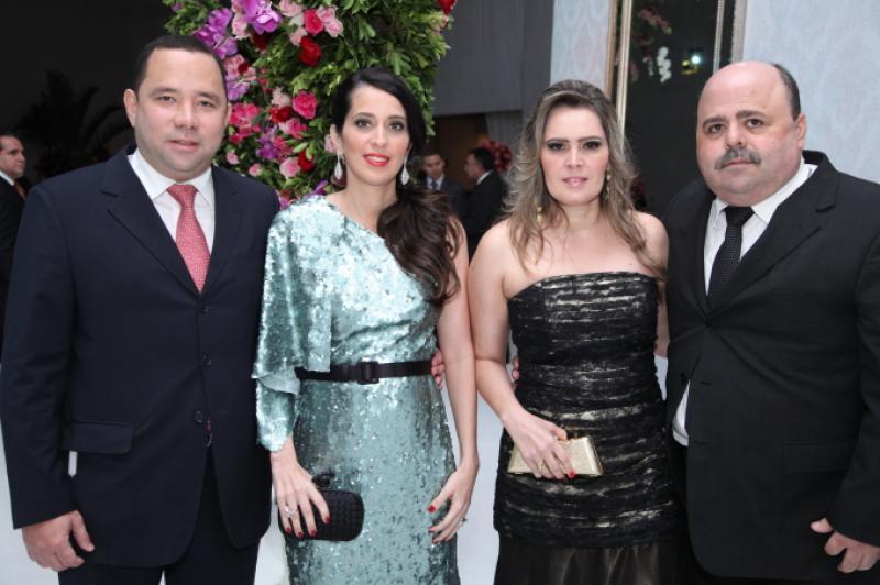Duduca e Dulce Fujita, Adriana e Ricardo Cabral