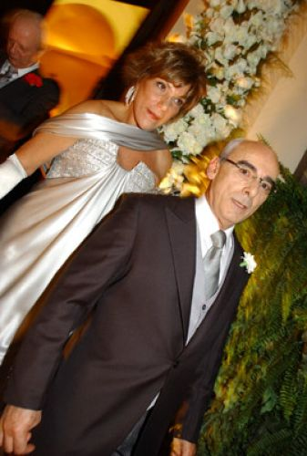 Sonia Diniz Bernardini e Plínio Bernardini, pais da noiva