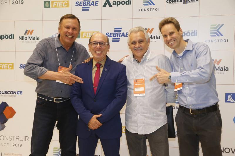 Jose Simoes, Andre Montenegro, Emanuel Capistrano e Jorge Dantas