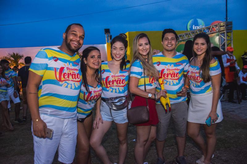 Thiago Rebordones, Sheridas Sales, Helen Arruda, Angela Tavares, Andinho Pacifico e Rachel Fernandes
