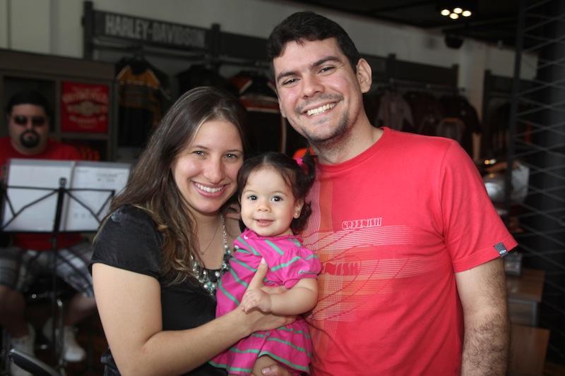 Luciana, Ligia e Andrei Chaves