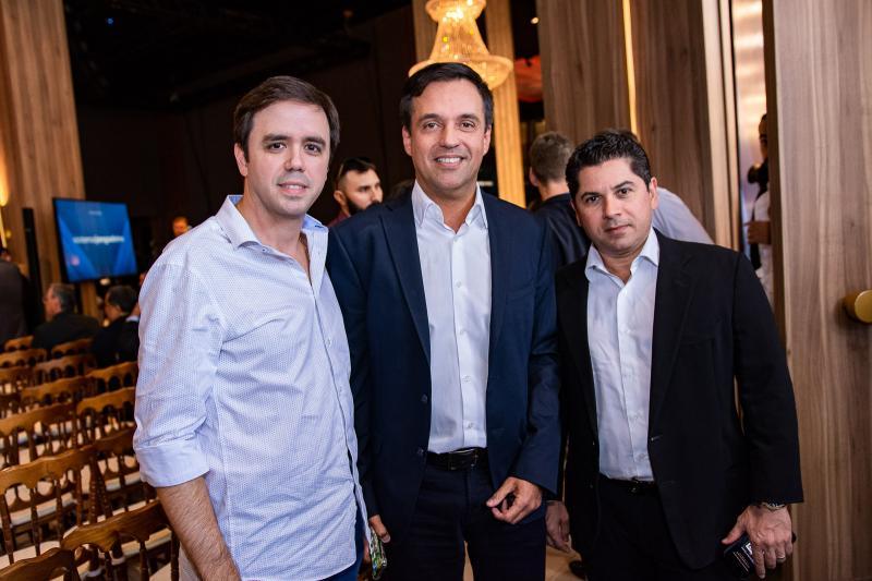 Francisco Philomeno, Fernando Novaes e Pompeu Vasconcelos