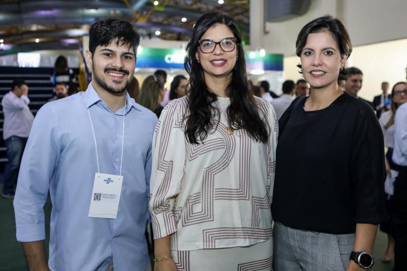 Pedro Campos, Karina Frota e Roberta Pinheiro
