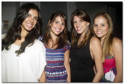Mirele Barreto, Flavia Furtado, Priscila Fontes e Laura Alencar