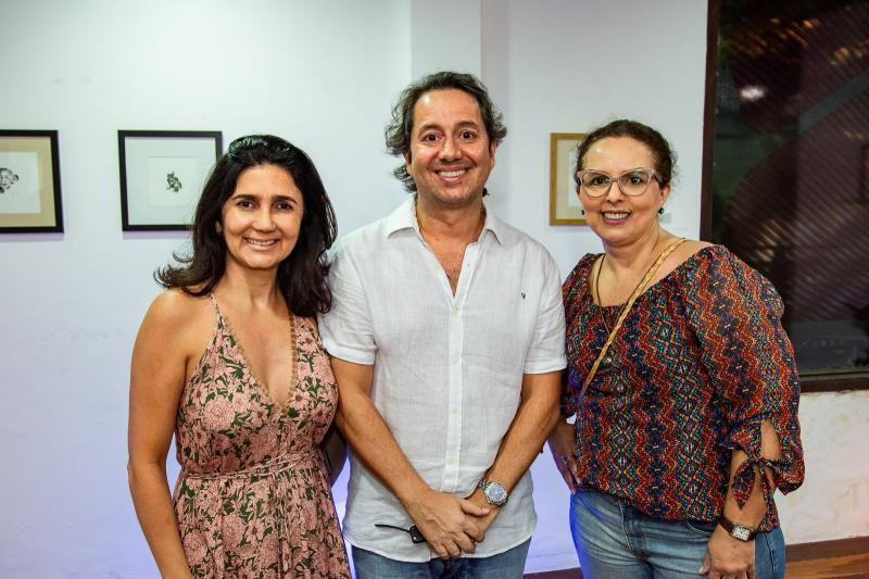 Luciana Cidrao, Rodrigo Parente e Tereza Mello