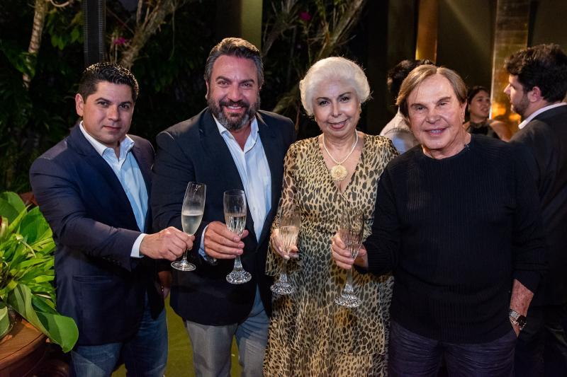 Pompeu Vasconcelos, Mario Sergio Garcia, Alodia Guimaraes e Lazaro Medeiros
