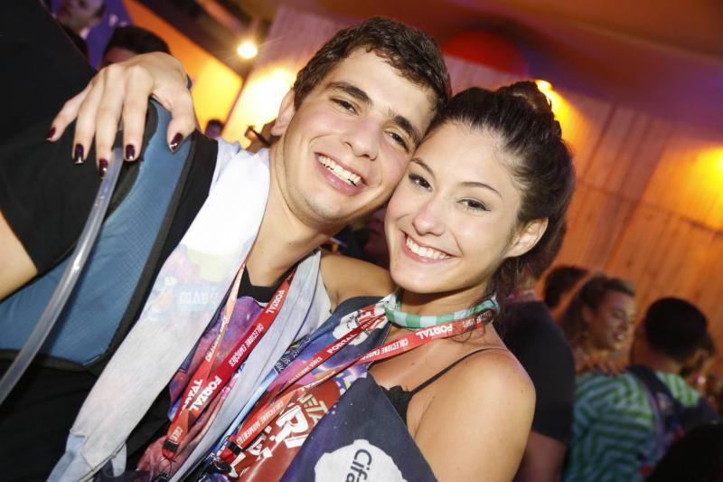Lucas Pinto e Celeste Loyola