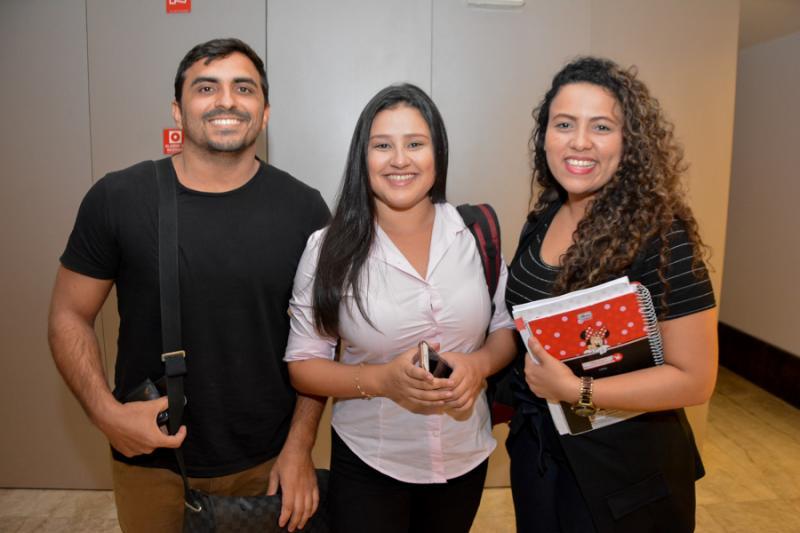 Thiago Costa, Naiara Oliveira e Kilvia Azevedo