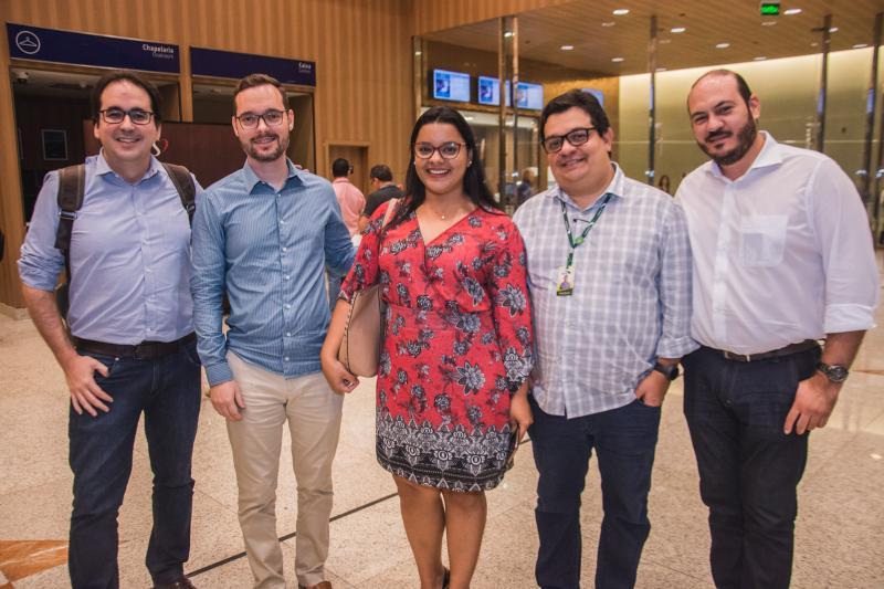 Marcelo Magnanelli, Cleiton Medeiros, Cinara Falcao, Renato Queiroz e Rodolfo Xavier
