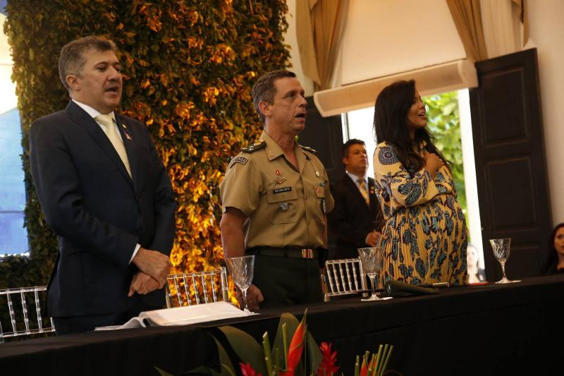 Antonio Henrique, General Cunha Matos e Priscila Costa