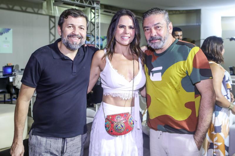 Elcio Batista, Luciana Sousa e Claudio Silveira