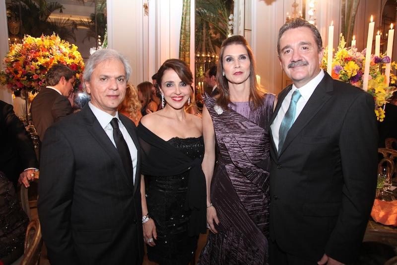 Ricardo e Denise Rolim, Glaucia e Bismarck Maia