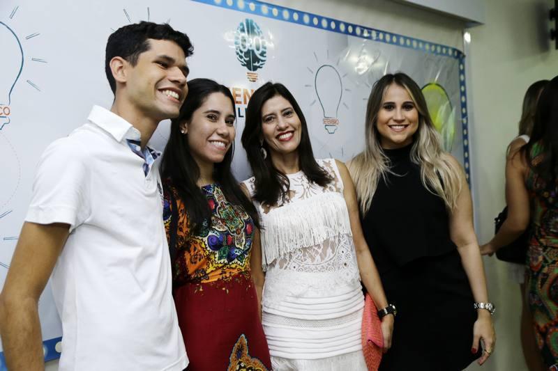 Beto, Ingrid e Silvia Egydio e Roberta Fernandes
