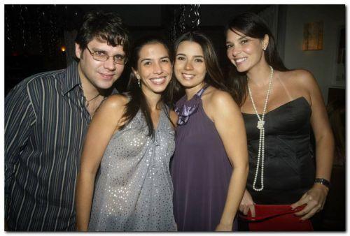 Leonardo e Bia Albuquerque, Juliana Nunes e Mariana Vieira