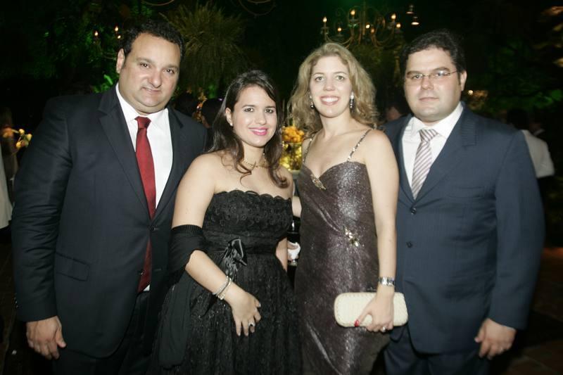 Patriolino e Renata Dias, Ticiana e Edson Queiroz Neto