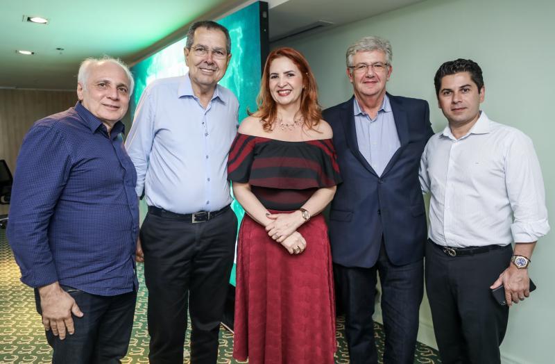 Ricardo Sabadia Ricardo Parente, Enid Camara, Carlos Maia e Pompeu Vasconcelos