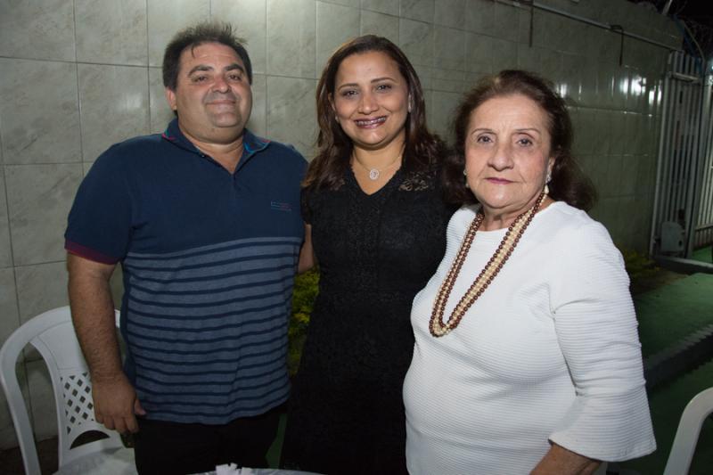 Alirio Oliveira, Edna Santana e Rita Montenegro