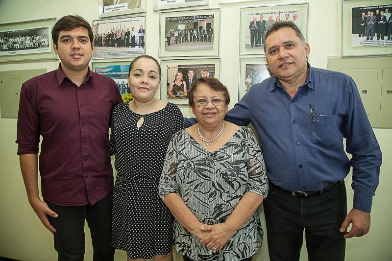 Heleno Junior, Caroline Macedo, Gloria Ribeiro e Expedito Junior
