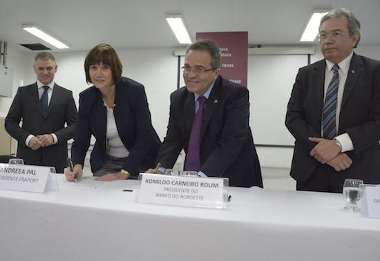 BNB e Fraport assinam contrato de R$ 692 milhões