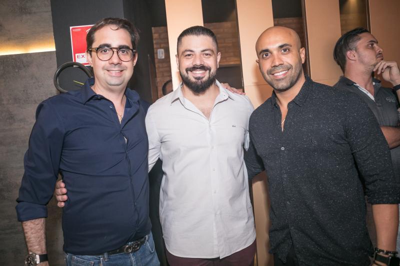 Pedro de Csatro, Rodrigo Morais e Hugo Quindere