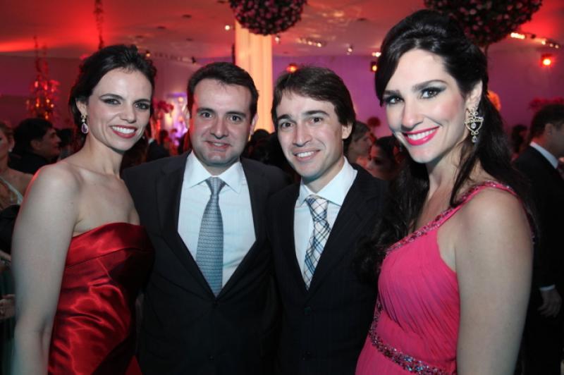 Cristiane e Fernando Gurgel, Rodrigo e Marcela Carvalho