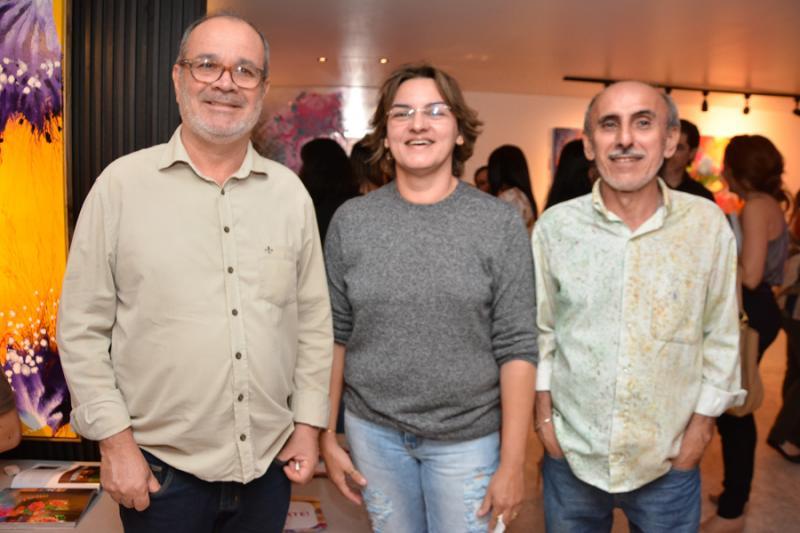 Ediel Pimentel, Sandra Amorim e Chico Rabelo