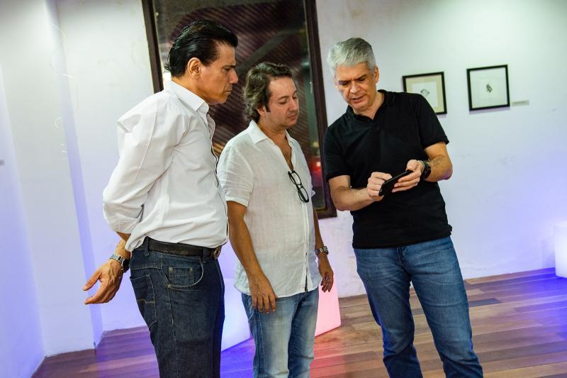 Wilson Loureiro, Rodrigo Parente e Leonardo Leal