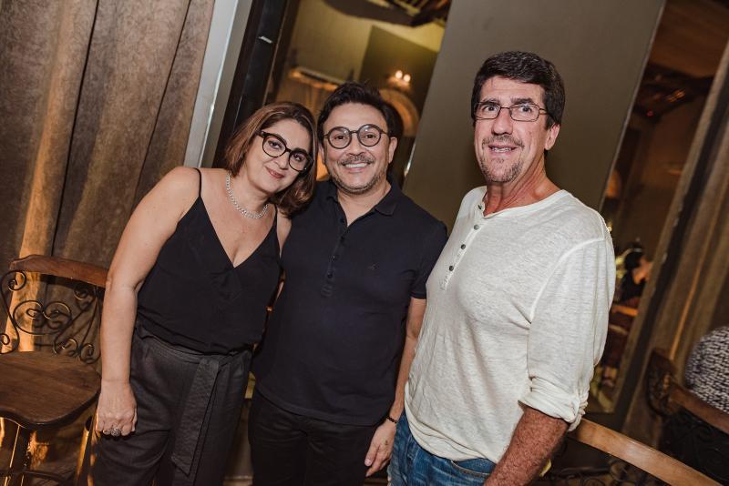 Helena Silveira, Fabiano Pereira e Marcio Sobral