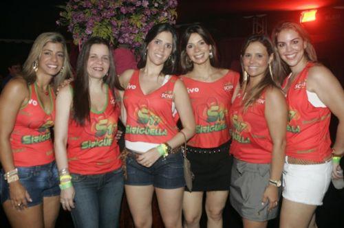 Monica Freitas, Isabelle Borges, Luciana Perdigao, Renata Pontes, Alessandra Bezerril e Sandra Va