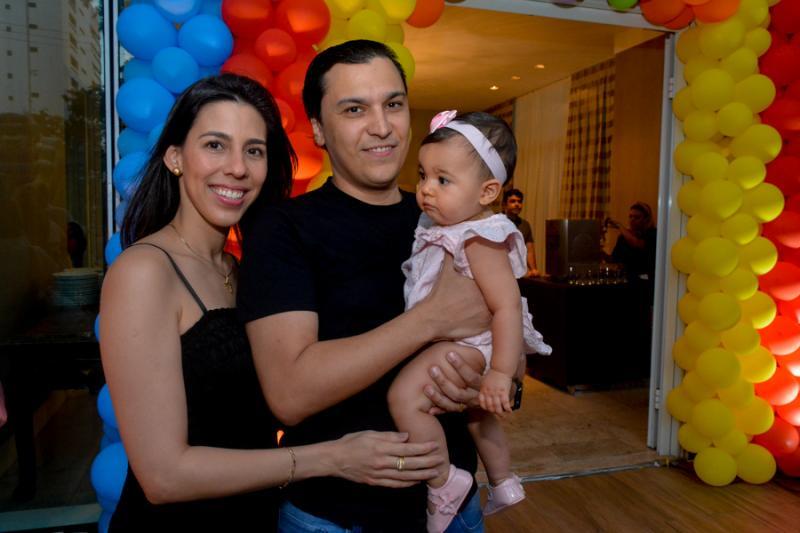 Lara, Elano e Amanda Pinheiro