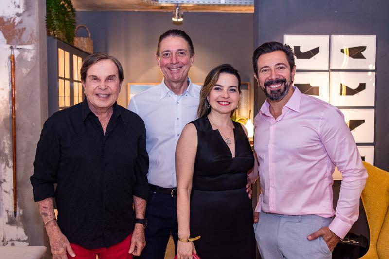 Lazaro Medeiros, Afranio Barreira, Daniela Barreira e Carlos Otavio
