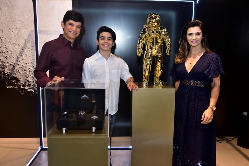 Orlando, Gabriel e Monalisa Cavalcante