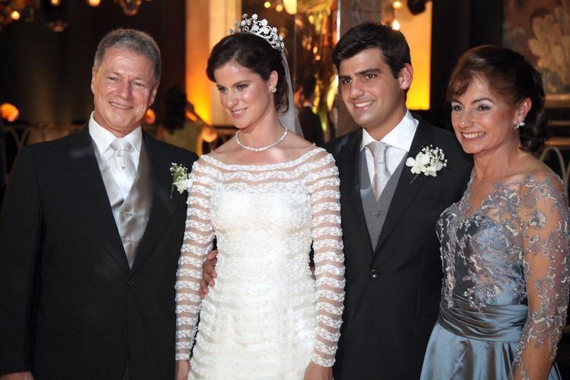 Jacob Barata Filho e Clarisse Perissé Barata com Beatriz e Chiquinho