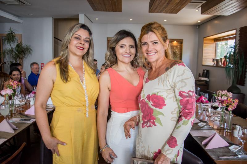 Ticiana Salmin, Edineide Pinheiro e Debi Benedetto