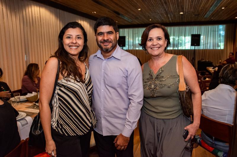 Cintia Oliveira, Sidarta Cabral e Eveline Costa