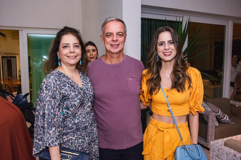 Claudia, Roberto e Bia Gradvohl