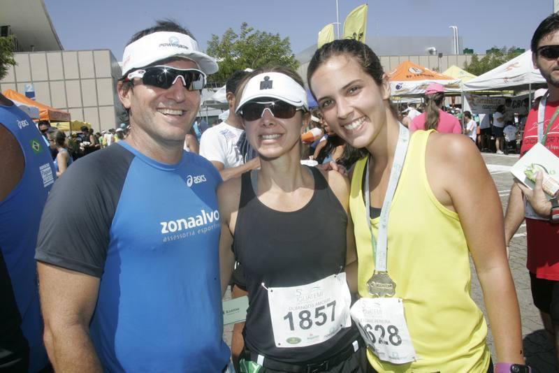 Adalberto e Sandra Machado e Alice Studart