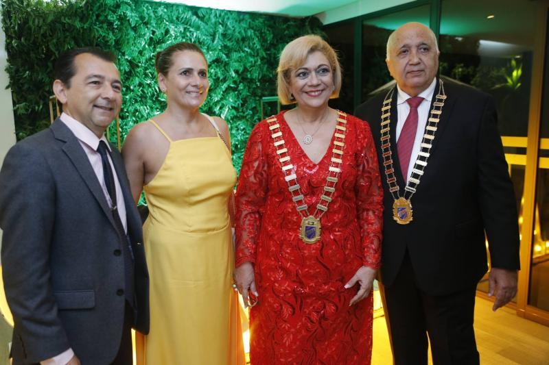 Roberto e Jaquelina Marinho, Priscila e Epitacio Vasconcelos