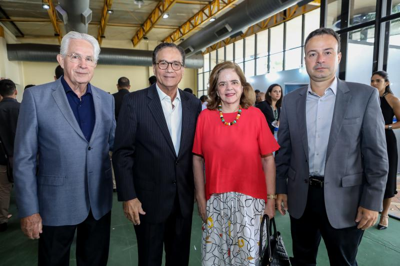 Carlos Prado, Beto Studart, Roseane Medeiros e Danilo Serpa