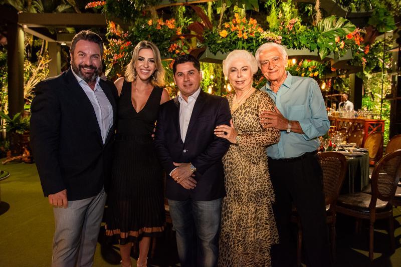 Mario Sergio Garcia, Renata Garcia, Pompeu Vasconcelos, Alodia Guimaraes e Paulo Guimaraes