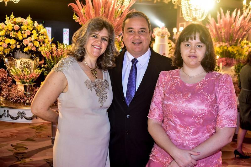 Carmen, Marcio e Natalia Batelho