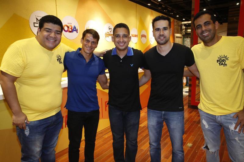 Anderson Queiroz, Jorginho Cals, Laurinho Sobreira, Lucas Pearce e Leo Ribeiro