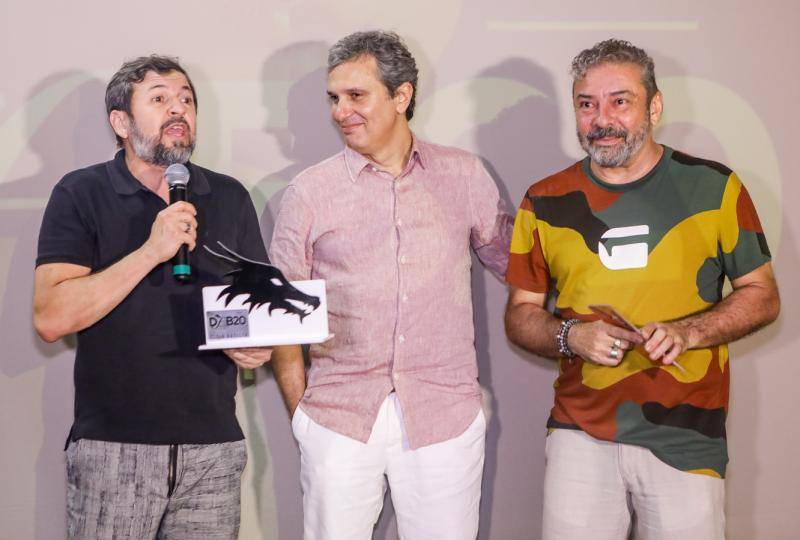 Elcio Batista, Claudio Silveira e Tiago Santana