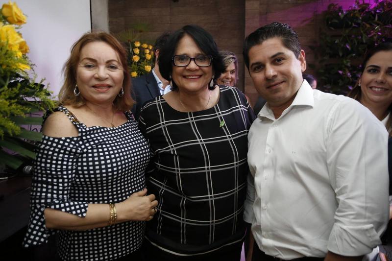 Gorete Pereira, Damares Alves e Pompeu Vasconcelos