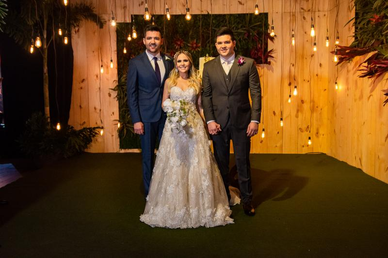 Felipe Vasconcelos, Erica Dantas e Pedro Vasconcelos