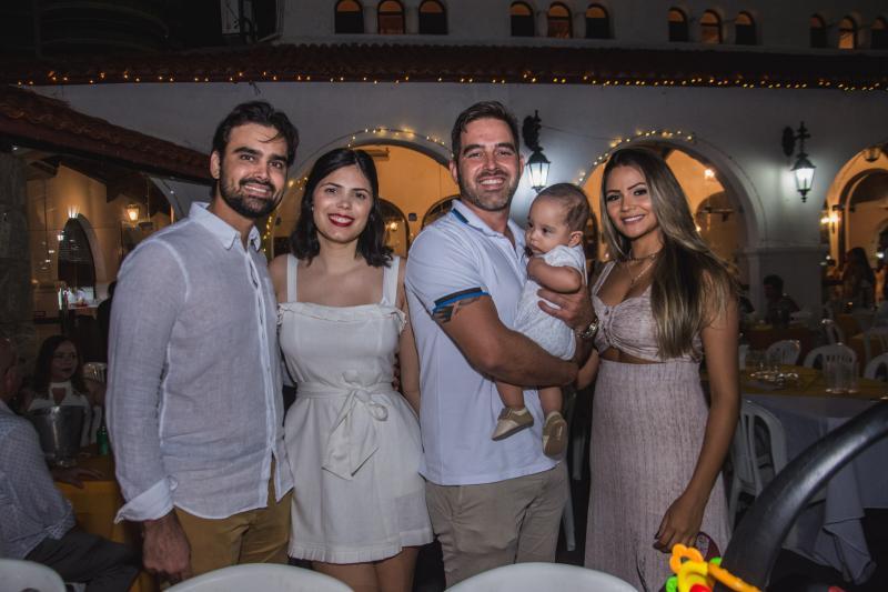 Gilberto Costa, Juliana Castro, Leon Cabral, Leandro Cabral e Jaqueline Lima