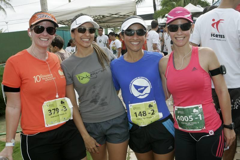 Helen Araujo, Letrice Gomes, Roberta Almeida e Michelle Viana